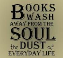 Books wash away everyday life
