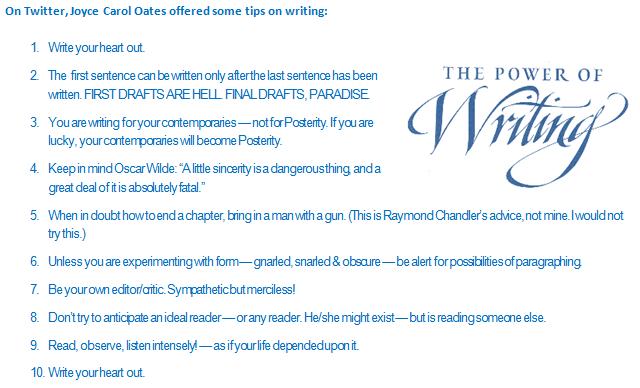 Joyce Carol Oates - Writing Advice