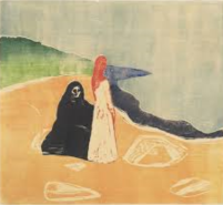 Edvard Munch - Two Women on the shore
