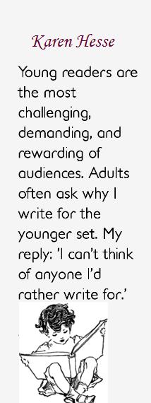 Karen Hesse quote - writing for children