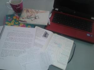 My writing setup