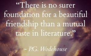 P.G.Wodehouse_friendship_literature