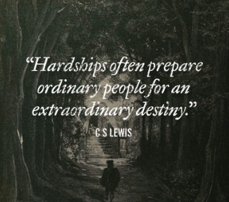 cs lewis quote - hardships