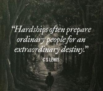 cs lewis quote - hardships
