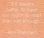 Ann Patchett - reading
