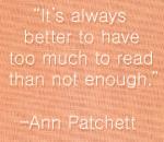 Ann Patchett - reading