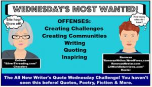 Writers Quote Wednesday Writing Challenge LOGO