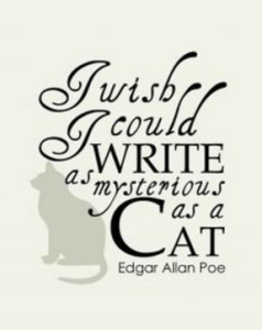 Edgar Allan Poe - Mysterious Cat Writing