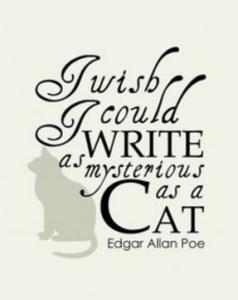 Edgar Allan Poe - Mysterious Cat Writing