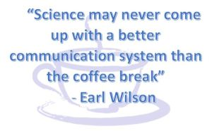 science coffee break earl wilson
