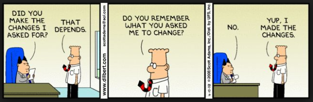 Changes - Dilbert