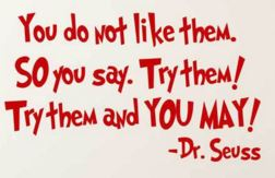 Dr Suess - try them and you may - friendship