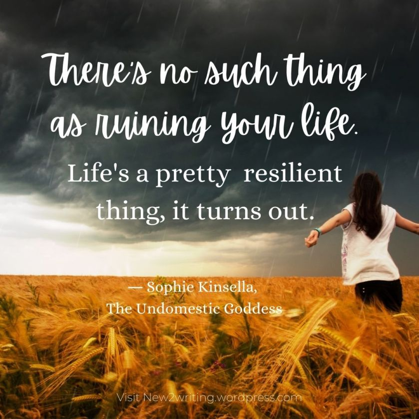 There's no such thing as ruining your life quotation.