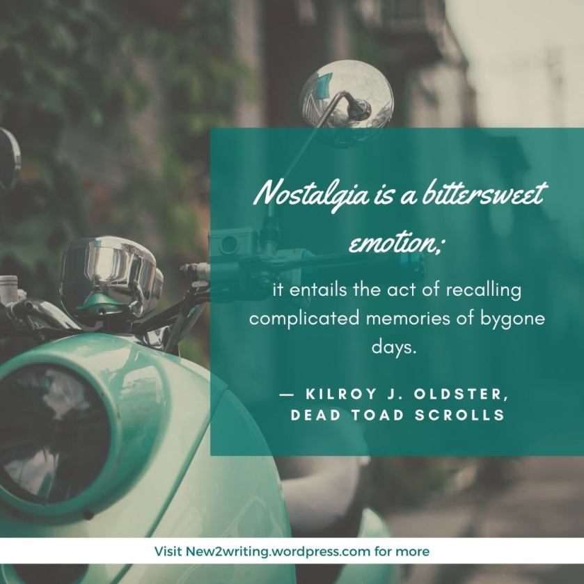 Nostalgia is a bittersweet emotion; it entails the act of recalling complicated memories of bygone days.